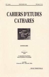 cahier d'études cathares.O.Cébe.1994