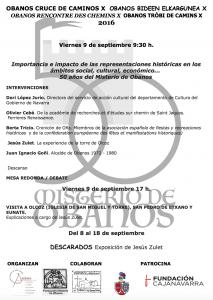 programme conférences organisées par Misterio de Obanos