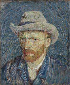 autoportrait au chapeau de feutre, 1887, Musée Van Gogh, Amsterdam