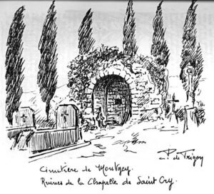 cimetière de Montgey (dessin P. de Trigon)